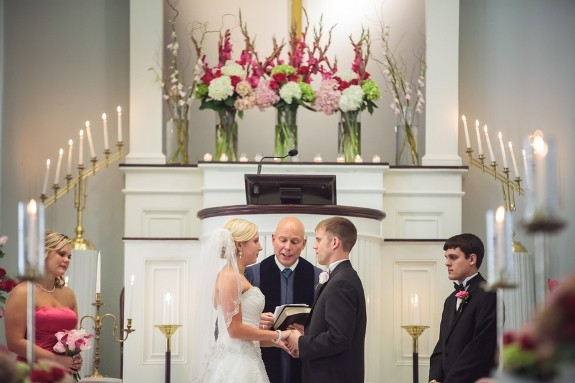 The civil ceremony and the marriage one