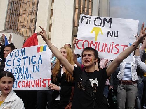 Lozinci anti-comuniste la 7 aprilie 2009, Preşedinţia Moldova