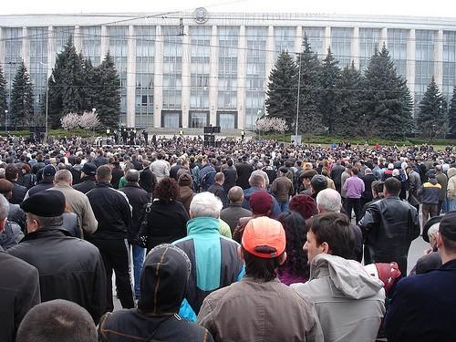 Mitingul din 12 aprilie in PMAN