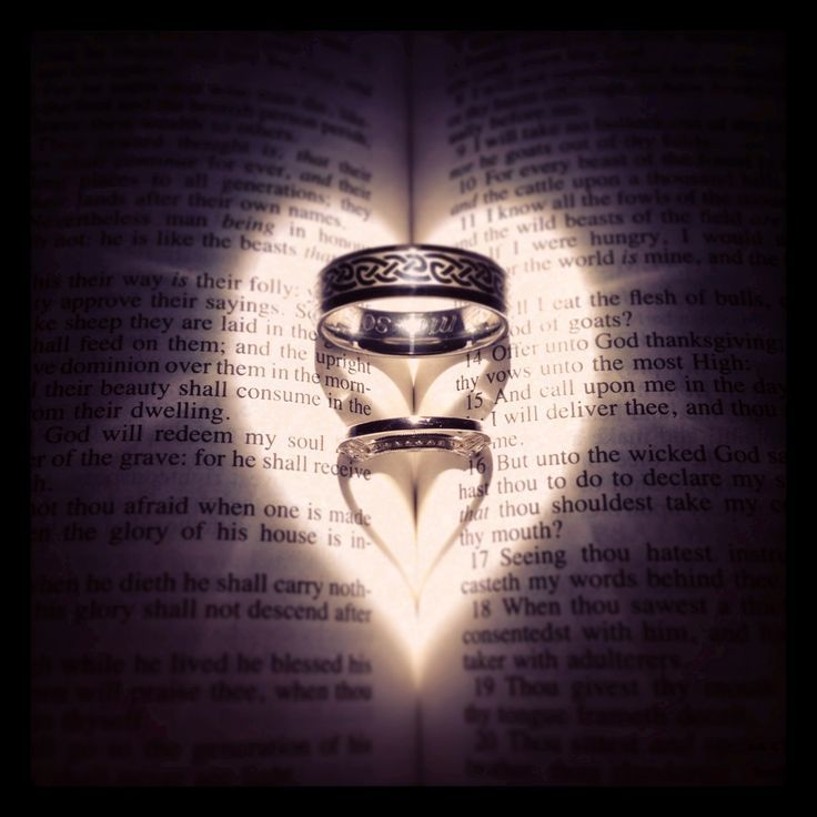 What is the meaning of the engagement and wedding rings?