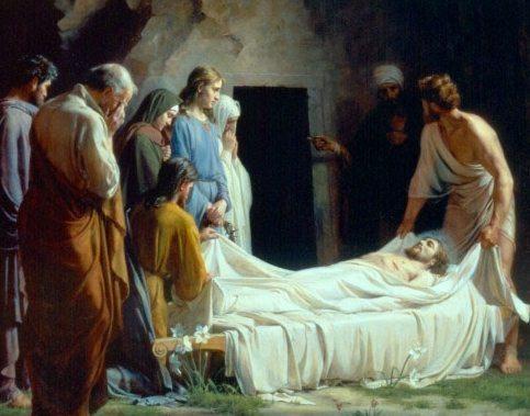 В какой день недели был погребен Иисус?