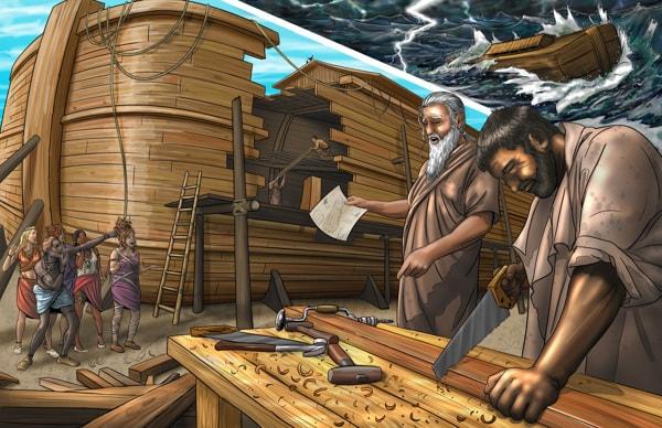 En combien de temps Noé a construit l'arche ?