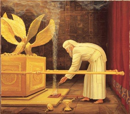 Est-ce que c'est vrai que le beau-père entrait dans le Saint des Saints lié aux pieds ?