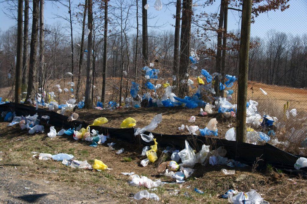 reziduri, gunoi, pungi din plastic, gunoi în cîmp