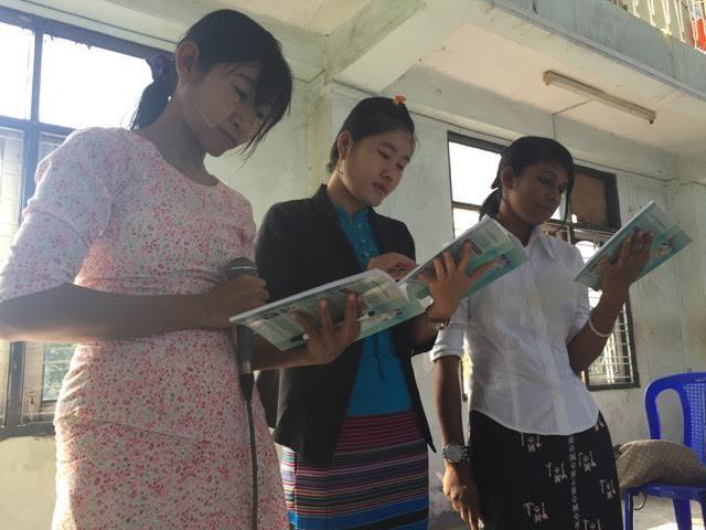 50 de profesori de școala duminicală din 19 localități din Myanmar care predau la 914 copii