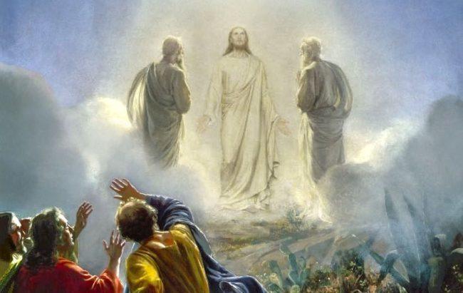 Иисус, Моисей и Илия на горе