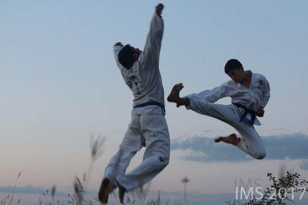 Daniel Railean, antrenamente de Taekwon-Do, Ermoclia, Ștefan-Vodă, contacte