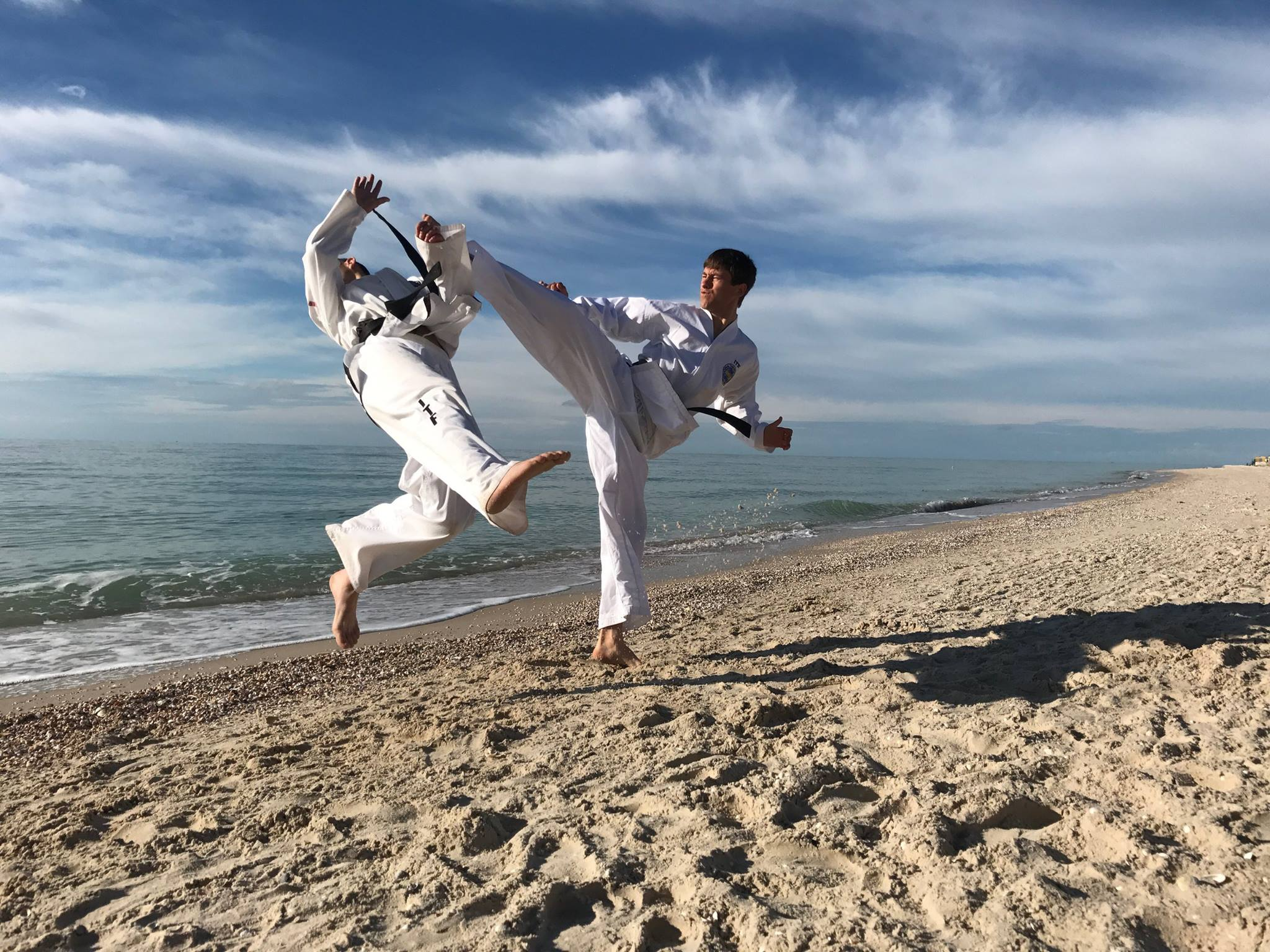 Ion Ilescu, antrenamente de Taekwon-Do, Budăi