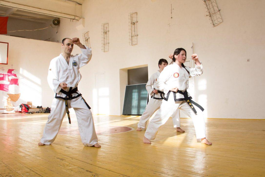 Vera Mazăre la antrenamentele de Taekwon-Do