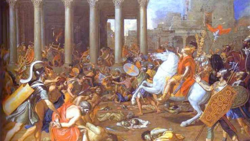 Who interrupted the continual offering in the first century