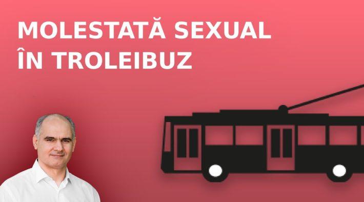 Molestare sexuală în troleibuz